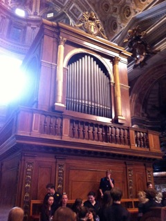 The grand organ at St Peter's
